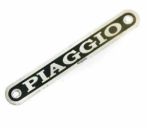 Piaggio Seat Badge Monogram Black Silver for Vespa Piaggio Scooter ECs