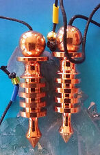 2 EGYPTIAN STYLE 4 RING ISIS COPPER DOWSING PENDULUMS WITH 2 POUCHES