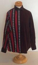 Wrangler Silver Lake VTG Color Block Aztec Print Western Shirt Womens Sz Medium
