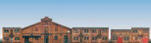 HS Auhagen 42506  Halbrelief-Hintergrundkulisse Set mit 6 Industrie-Fassaden