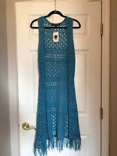 "Women's Noble Outfitters ""Arizona Long Vest"" - Med/Lrg - Hawaiian Blue"
