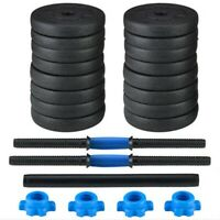 50KG Adjustable Weights Dumbbells Set Free Weights Set With Connecting Rod