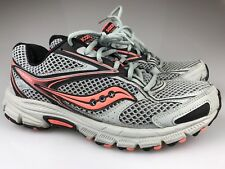 SAUCONY WOMENS Sz 10 GRID COHESION Running Trail SHOES S15219-3 Gray Salmon Pink
