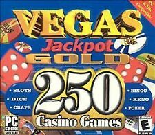 Vegas Jackpot Gold - 250 Casino Games (Jewel Case) - PC, Good Windows 2000, Wind