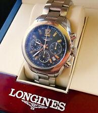 Longines grande vitesse Valjoux 7753 automatico acero de lujo caballero chronograph
