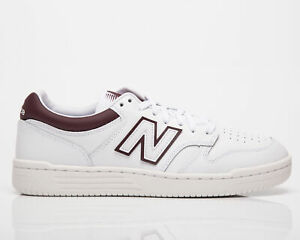 New Balance BB 480 LDB Men's White Burgundy Low Casual Lifestyle Sneakers Shoes