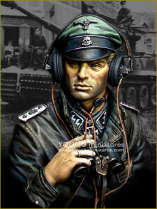 young miniatures ss panzer commander  resin  bust kit military 1/10 scale ym1876