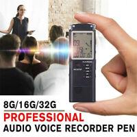 16/32G Grabadora de voz de sonido digital USB LCD Grabación Reproductor de MP3