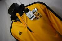 23346 New Mens Adidas ClimaLite Kennesaw State Owls KSU Golf Jacket Size Large