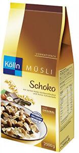 Kölln Müsli Schoko Hafer-Vollkornflocken 62% Vollkorngehalt 2 kg 1er Pack