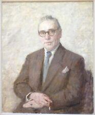 Oskar J.H.Hagemann 1888 Peinture À L'Huile ° Portrait Distingué Homme ° 1955
