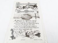 ANTIQUE VINTAGE BIRTHDAY GREETINGS TO MY MOTHER GREETING CARD PHOTO POSTCARD