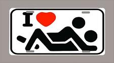"""""""I LOVE SEX"""" funny novelty license plate-metal 6""""x12""""-FREE SHIPPING"""