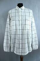 Massimo Dutti BNWT RRP 49 Cream White Plaid Button-Up Women Shirt Size EU L
