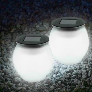 Big Jumbo Giant LED Solar Garden Mood Ball Sphere Globe Stake Light White