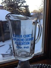 Advertising Picher Iowa Osceola County Co-op Creamery Sibley Iowa Glass