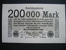 GERMANY  200000 Mark 9.8.1923  Ros. 99b  (P100)  UNC
