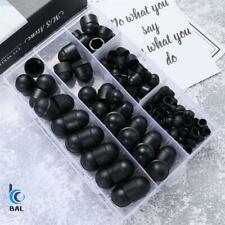 145pcs Black Assorted Piece Plastic Nut and Bolt Covers M4-M12 KIT Rubber Cap