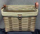 Longaberger 2009 Sort & Store Newspaper Basket Set- Deep brown- Rare Find!