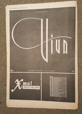 Xmal Deutschland Viva 1987 press advert Full page 30 x 42 cm mini poster