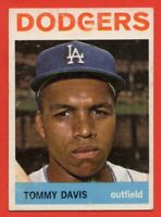 1964 Topps #180 Tommy Davis EX-EXMINT+ Los Angeles Dodgers FREE SHIPPING