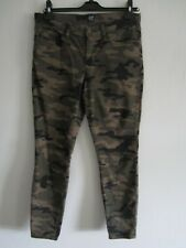 GAP DENIM TROUSERS/ LEGGINGS MORO/ CAMO BROWNS 28 UK 12 TRIED ONLY/ EXCELLENT