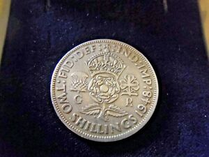 1948 GEORGE VI-FLORIN 2 SHILLINGS COLLECTABLE COIN-VERY GOOD CONDITION FOR AGE