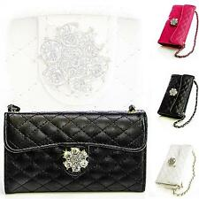 Book Style Mobile Phone Bag Rhinestone Protective Case Flip Cover Folding Pouch Case Cover