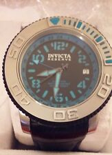 RARE!! INVICTA RESERVE SEA HUNTER SWISS ETA AUTOMATIC GMT LEATHER  WATCH 1130