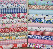 BUNDLE OF FABRIC SCRAPS OFF CUTS REMNANTS 20 PIECES POLY COTTON PATCHWORK CRAFT