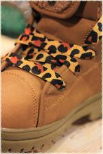 Coppia Stringhe per scarpe colori Fashion MACULATO GIALLO 115 cm * shoes strings