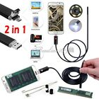 10M 6LED Android Endoscope Waterproof Snake Borescope USB Inspection Camera Hot