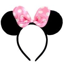 1 PC MINNIE MICKEY MOUSE EARS HEADBAND FITS MOST CHILDREN AND ADULTS