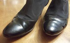 Paul Green Munchen Shoes Heels Booties Microfib/Leather Women Sz 5.5 Black Desig