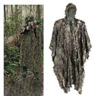 3D Ghillie Poncho Jungle Sniper Hunting Bionic Leaves Camouflage Ghillie Suit