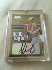 2006 Maria Sharapova Ace Authentic Heroes and Legends Autograph Card 040/100
