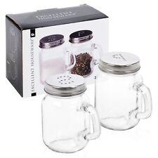 VASO Sale e Pepe Set Shaker in vetro cucina pub ristorante B&B TAPPO A VITE