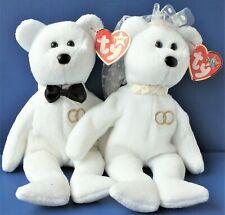 TY BEANIES WEDDING ANNIVERSARY BRIDE & GROOM MR & MRS BEARS. VGC.