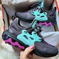 Nike React Presto - BQ4003-011 - Black / Purple / Sky Blue - Girl's Youth Size 1