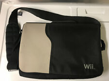 Wii Messenger Bag Console Carrying Case Black Gray With Strap