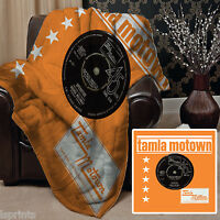 ORANGE TAMLA MOTOWN DESIGN SOFT FLEECE BLANKET COVER THROW HOME BED L&S PRINTS