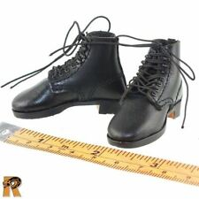 German 1940 Fashion - Black Boots for Feet - 1/6 Scale Blackbox Action Figures