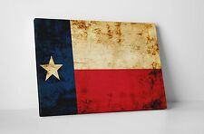 "Texas Vintage Flag Gallery Wrapped Canvas 20""x16"""