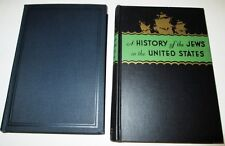 HISTORY OF THE JEWS 2 BOOKS BOTH PUBLISHED BY UAHC HARDCOVERS NICE