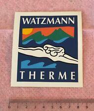 Aufkleber Watzmann Therme