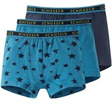 SCHIESSER BASIC 3er-Pack Hip Shorts Low Rise Pants marine petrol sterne Gr. 104