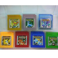 7 Pieces Game Cards Carts For Nintendo Pokemon GBC Game Boy Color Version