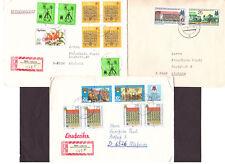 DDR 3 Briefe Mischfrankatur mit Messemarken, auch 2 R-Briefe aus Leipzig