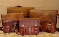 Men & Women Leather Messenger case Laptop Shoulder Bag Office Computer Satchel