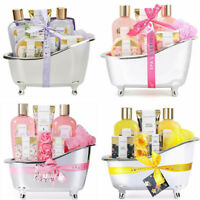 Home Spa Gift Basket for Her, 8pcs Bath & Body Gift Set, Mothers Day Gift Idea